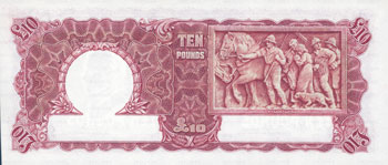 Image showing the back of a £10 note featuring agricultural activities.