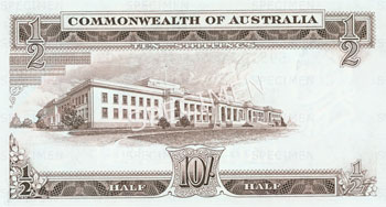 Image showing the back of a ten shilling note