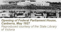 Photograph showing opening of Federal Parliament House, Canberra, May 1927