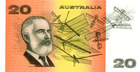 Image showing the back of a $20 banknote.
