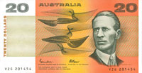 Image showing the front of a $20 banknote.