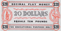Image showing a play money twenty dollar note