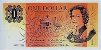 Image showing the front of an unused one dollar note