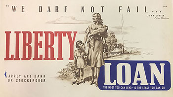 A poster produced by the Bank showing a mother and her family with the slogan '