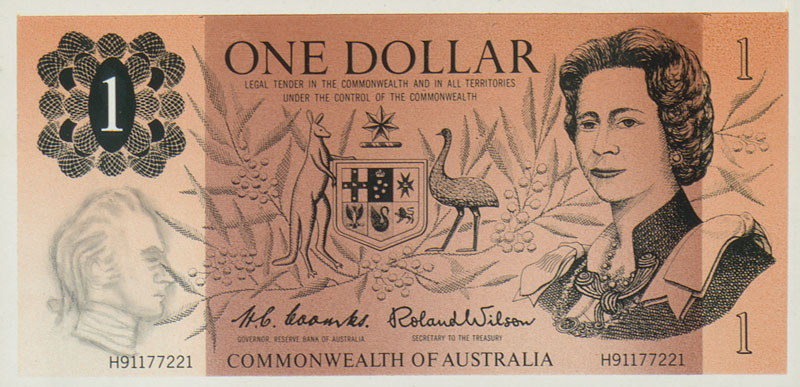 Image showing front of $1 banknote designed by Beck