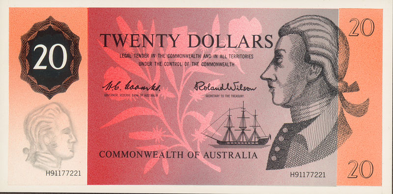 Image showing front of $20 banknote designed by Beck