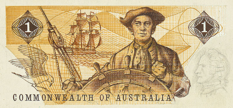 Image showing back of $1 banknote designed by Hamori