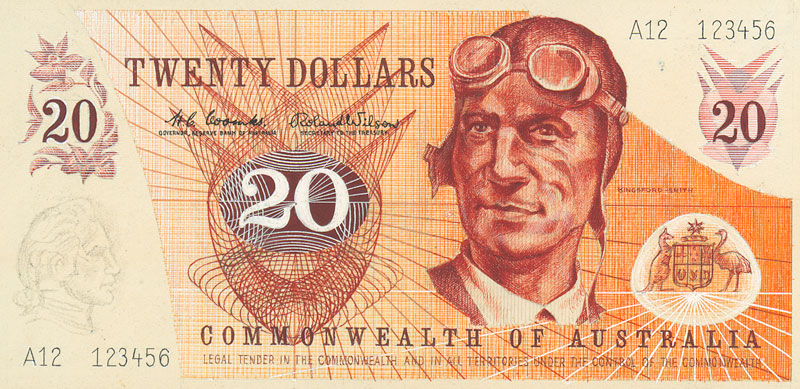 Image showing front of $20 banknote designed by Hamori