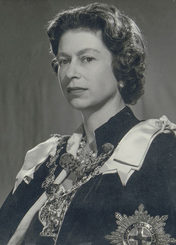 Portrait of Queen Elizabeth II, photography by Douglas Glass