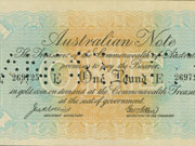 Photo of An 'emergency issue' of the one pound note, which came to be known as the Rainbow Note, was circulated in 1914.