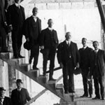 The Bank's Governor Denison Miller with the Lord Mayor and Aldermen of City Council visiting the construction site of the Commonwealth Bank of Australia's head office, Sydney, 12 April 1915. PN-000826